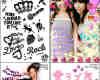 6套来自日本的可爱照片装饰笔刷