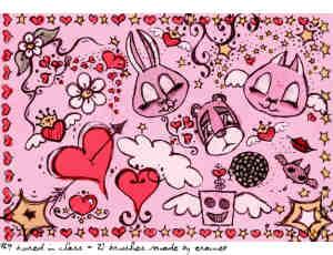 可爱卡通涂鸦兔子笔刷