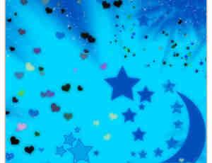 梦幻卡通星星月亮场景笔刷