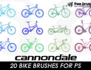20种不同样式的自行车笔刷