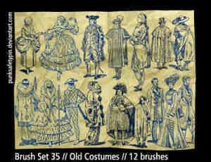 手绘西方贵族人物笔刷