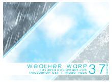37种下雨、起雾、云、下雪等天气效果笔刷
