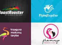 40个美丽的鸟儿主题logo标志设计