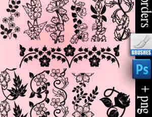 花纹藤蔓边框装饰笔刷