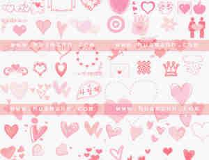 10套爱心爱情专用笔刷打包下载