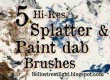 20个油漆飞溅笔刷