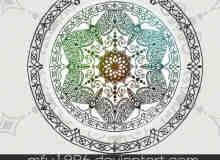 罗盘式罗马花纹笔刷