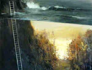 梦幻般的层景油画
