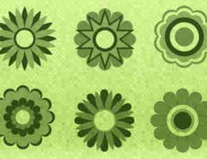 简单的矢量花纹效果笔刷