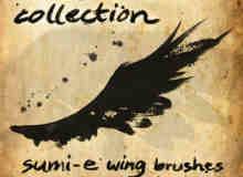 油漆涂鸦式翅膀笔刷