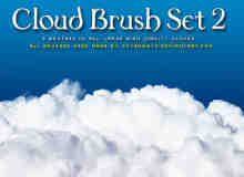 高品质白色云朵PS笔刷