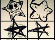 非主流式涂鸦卡通星星笔刷下载