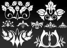 漂亮的矢量花卉装饰笔刷