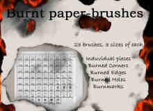 被烧穿的纸效果纹理笔刷