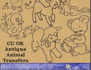 手绘线条卡通小羊鸭子PNG笔刷