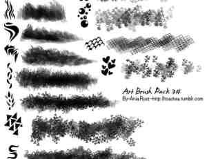 随机艺术式花纹PS笔刷下载