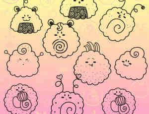 卡哇伊卡通寿司涂鸦笔刷下载