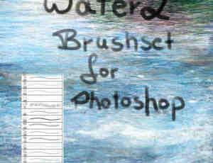 CG插画仿真式水流水面纹理笔刷