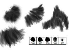 5种羽毛效果笔刷
