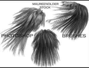 女式辫子发型笔刷