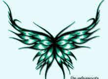 漂亮的蝴蝶刺青花纹笔刷