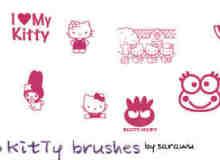 卡哇伊Hello Kitty的图案笔刷下载