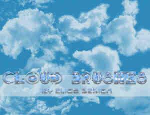 自然的天空云朵云彩Photoshop笔刷下载