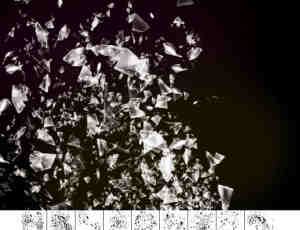 9种玻璃碎片玻璃渣子笔刷