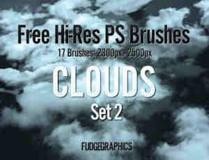 高分辨率PS云朵云彩笔刷下载