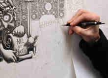 精美壁上艺术涂鸦绘画创作