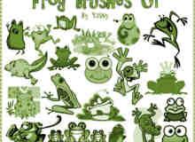 可爱卡通青蛙笔刷