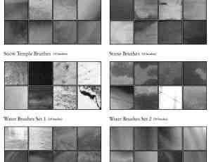 10个纹理质感类PS素材笔刷