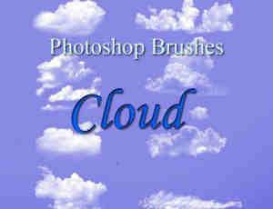 蓝色天空白云飘飘笔刷