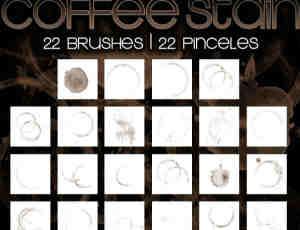 22种杯底污渍水渍笔刷