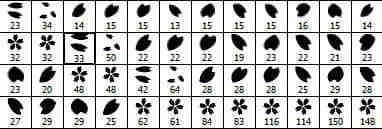 樱花花瓣装饰笔刷