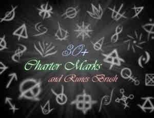 32个神秘奇特符号PS笔刷