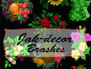 漂亮的水彩花朵PS笔刷