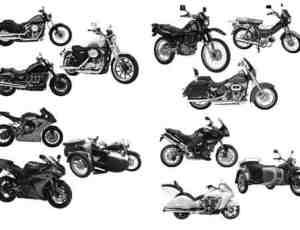 4个摩托车笔刷