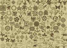 生活经典元素花纹图形装饰PS笔刷