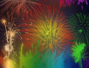 绚丽的烟花绽放、烟火效果PS笔刷