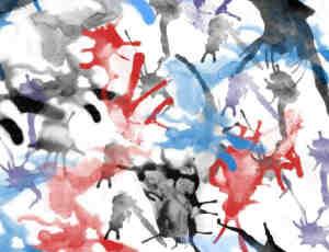 水彩、墨汁、血液泼溅PS笔刷