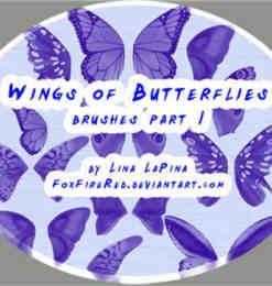 ps蝴蝶翅膀笔刷_蝴蝶笔刷 : 标签 PS笔刷吧-笔刷免费下载 | 第 9 页