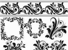 17种高贵气质的矢量装饰花纹PS笔刷