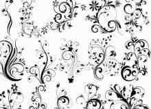 漂亮的装饰花边花纹PS笔刷