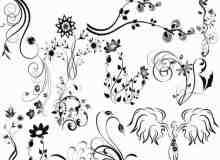 精美的花边纹饰装饰PS笔刷