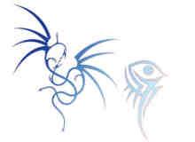 龙形纹饰纹身、龙图腾笔刷下载