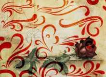 简单的印花装饰花纹PS笔刷