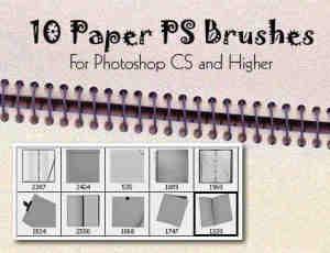 10种真实的纸张类型PS笔刷