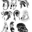 欧式手绘卡通头盔PS笔刷