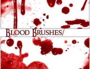 超级真实的血液流血PS笔刷下载